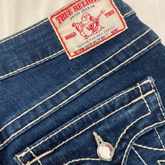 Swarovski Crystal Button True Religion Jeans